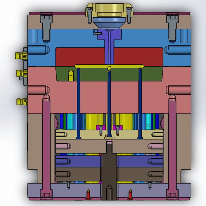 Coupe transversale du moule | Aéro-plastiques